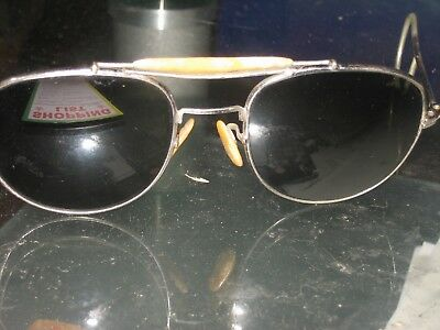 vintage / retro mother of pearl sunglasses with soft snake chain in frame Rare