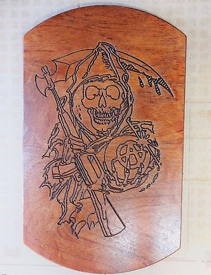 SOA Reaper Wood Engraving Wall Plaque Table Insert