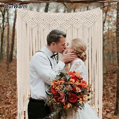 2x Boho Cotton Macrame Tapestry Wedding Photo Backdrop Wall Hanging Home Curtain