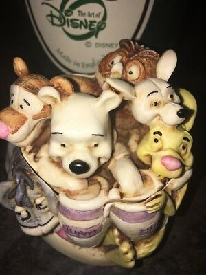 """Harmony Kingdom Disney """"Pooh and Friends"""" WDWPOOH  3.75"""" FIRST in Series England"""