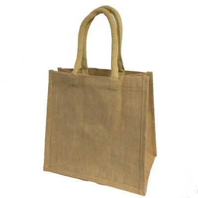 Jute Hessian Reusable Lunch Bag Wedding Party Favour Tote Shopping Bags