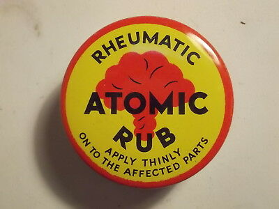 Old Chemist ATOMIC RUB Ointment Tin. VG