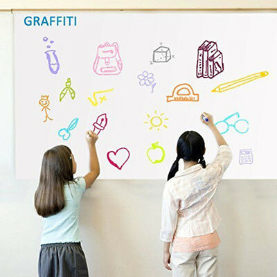 Dry Erase Whiteboard Sheet Self-Adhesive Wall Sticker Contact Film School Home