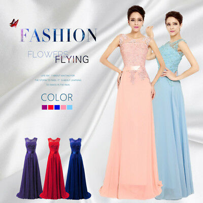 Evening Long Prom Dress Lace Party Formal Gown Bridesmaid A-line dresses