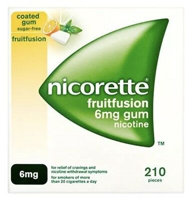 Nicorette Gum Fruitfusion 6mg- 3 Pack Of 210 ...FAST AND SAME DAY DISPATCH
