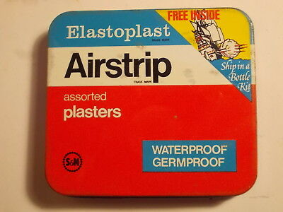 Old Chemist Elastoplast SHIP In BOTTLE Plaster Tin. VG
