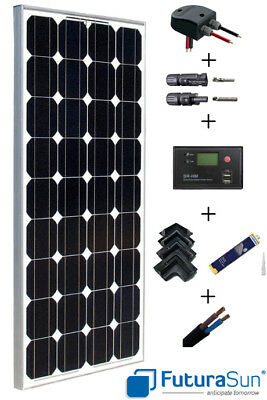 Kit panneau solaire 100W 12V camping-car complet Futurasun (100 watts)