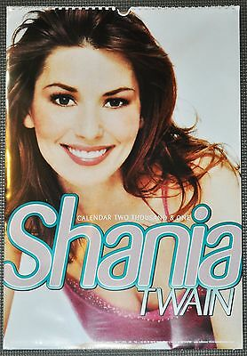 """Shania Twain 2001 #3 UK Collectible Calendar 12x16.5"""" *NEW* + now w/free gift"""