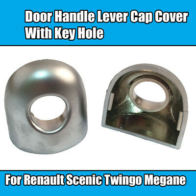 2x Door Handle Lever Cap Cover With Key Hole For Renault Scenic Twingo Megane