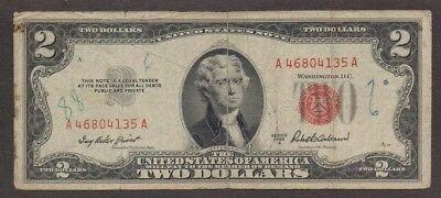 USA US - 2 Dollar Bill -  1953 United States Note – Small Size Series of 1953 A