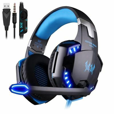 3.5mm Gaming Casque de Jeu Gamer Stéréo Micro LED pour PC Xbox One Laptop PS4 FR