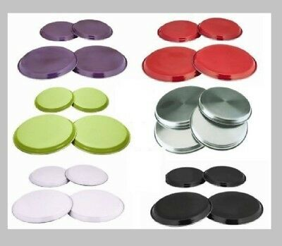 4 Pcs Stainless Steel Coloured Hob Cover/protector Metal Ring Electric Cooker
