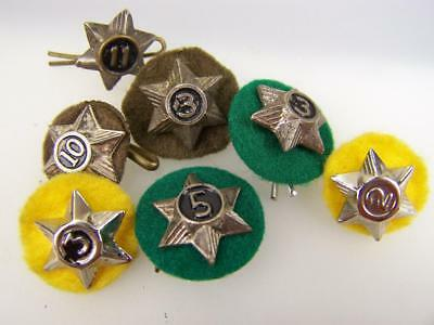 Vintage selection Boy Scout Cubs years of service star badges               3944