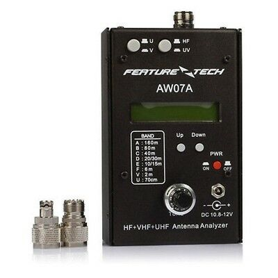 AW07A HF/VHF/UHF 160M 490Mhz Impedance SWR Antenna Analyzer Shortwave Ham Radio