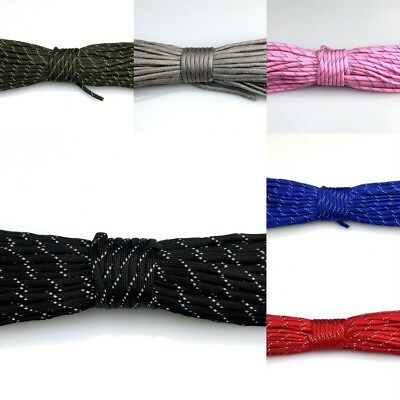 New 550 Paracord Reflective Parachute Cord Lanyard Spec Type III 7 Strand Core
