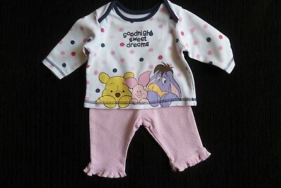 Baby clothes GIRL 0-3m NEW! Disney Pooh Bear&friends pyjamas long slee SEE SHOP!