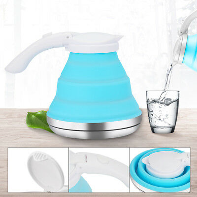 1.5L Collapsible Tea Kettle Portable Camping Silicone Water Pot Gas Stove Hob