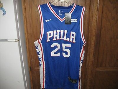 premium selection 2bbfa f80d6 BEN SIMMONS NIKE SIXERS 76ERS Swingman NBA Blue AUTHENTIC Jersey M 48 NWT