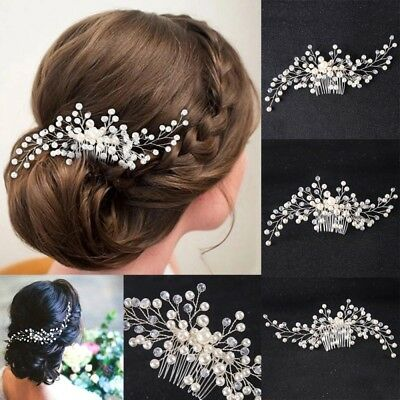 Hair Jewelry Gold Women Crystal Comb Bride Hair Accessories Handmade Wedding