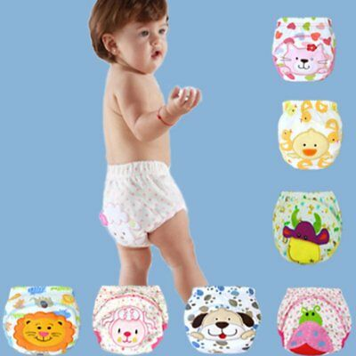 Toddler Nappy Underwear Training Pants PP Cover Baby Soft Cotton+Waterproof TPU