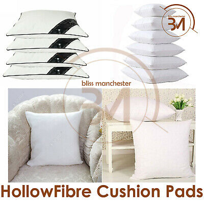 Square Hollow Fibre Cushion Inners Fillers Inserts Sofa Bed Rug Bedding Pillow