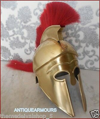 Corinthian Helmet Armor Movie Greek Medieval Brass Antique Style Spartan Replica