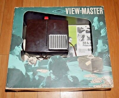 Sawyers Viewmaster Projector Bakelite Rare Boxed With Instructions  A087