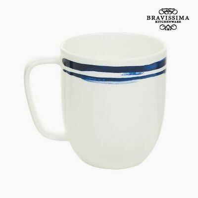 Taza Porcelana Rayas Azules - Colección Kitchen's Deco by Bravissima Kitchen