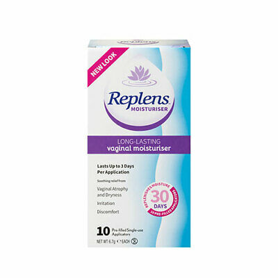 NEW Replens Vaginal Moisturiser 10 Applicators