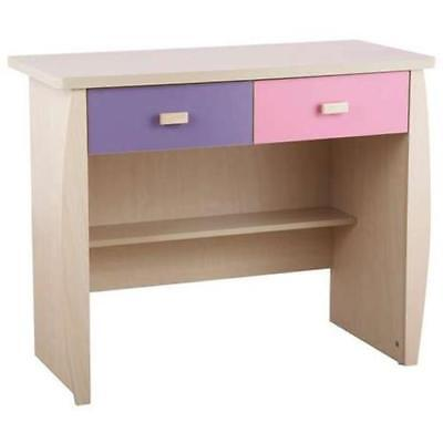 Sturdy 2 In 1 Pink Dressing Table / Mini Desk With Drawers Home Furniture New