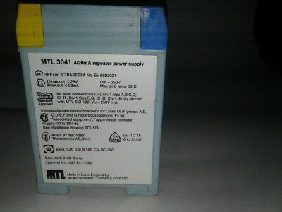 MEASUREMENT TECHNOLOGY MTL4544  REPEATER POWER SUPPLY 2CH  4//20mA  NEW