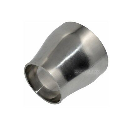 76MM to 51MM Sanitary Weld Reducer Pipe Fittings Stainless Steel SS304