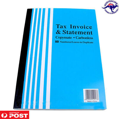 50 Page A4 Tax Invoice Statement Books Carbonless for Business