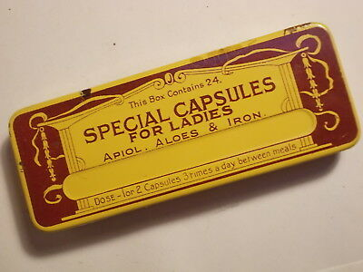 Old Chemist Capsules (Ladies) FULL Tin. VG