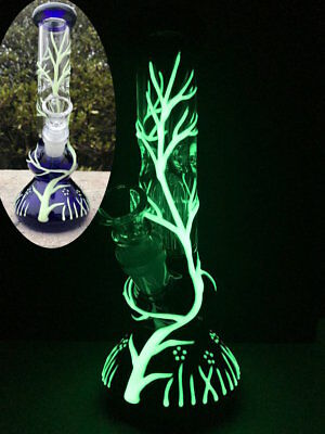Glow in the Dark Hookah Water Pipe Bong Glass