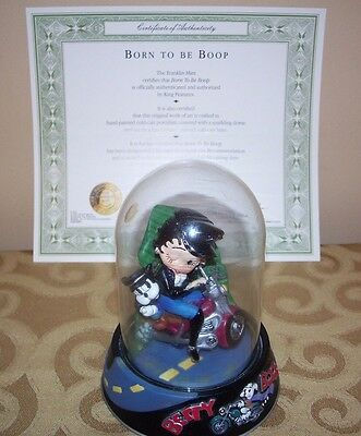 """BETTY BOOP, """"Born to be Boop"""" under glass, hand-painted porcelain sculpture"""
