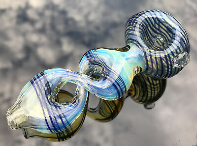 """4"""" Collectible Twist TOBACCO Smoking Pipe bowl Glass Hand Pipes"""