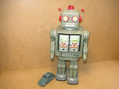 Space Roboter Blech Japan Batterieantrieb Horikawa 70er Tin Robot Tole Latta
