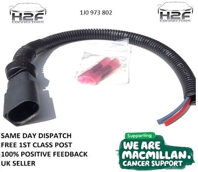 AUDI A3 Brake Pad Wear Connector (Male) Pre-wired with 30cm of Cable - FREEPOST