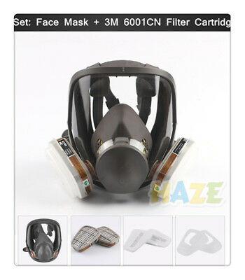 Full Face Gas Mask For 3M 6800 Facepiece Respirator Painting Pesticide Spraying