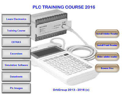 Programmable Logic Controller PLC Advanced Training on DVD Books Software Course