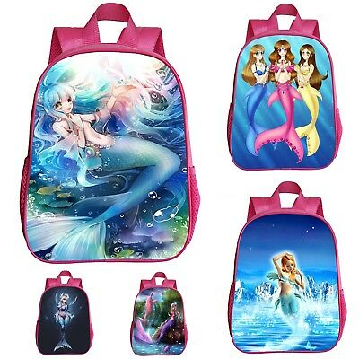 Sirena Sirenetta Zaino Scuola Tempo libero Mermaid Backpack School Bag ZAMER01 6