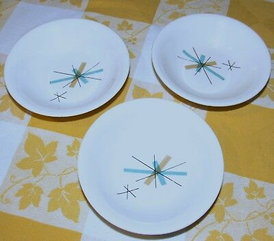 Salem China North Star Hopscotch Berry Bowls Set Of Three 5 Inch Bowls