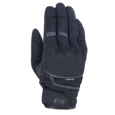 Oxford Brisbane Air Motorcycle Scooter Moped Gloves - Stealth Black