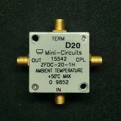 Directional Coupler Mini Circuits  ZFDC-20-1H-S 50Ω Up to 25W 30 to 400 MHz