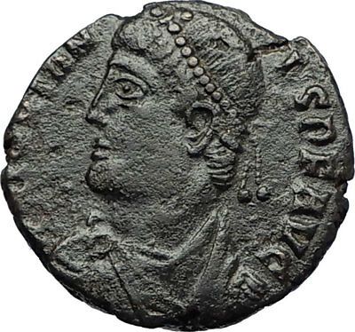 JOVIAN Authentic Ancient 363AD Heraclea Genuine Roman Coin VOWs in WREATH i71154