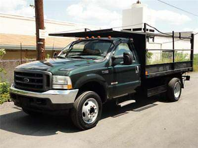 2003 Ford F-450 XL TURBO DIESEL DRW DUALLY PICKUP TRUCK 58K Mls! LOW MILES POWER STROKE V8 LONG FLAT BED FLATBED STORAGE BOX F450 F-450 F 450