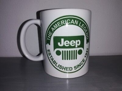 TASSE ceramique MUG COFFEE WW2 4x4 JEEP WILLYS MILITARIA AMERICAN LEGEND CALANDR