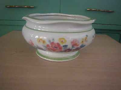 Vintage Porcelain~AAA Imports~Footed Planter~ Floral Design~Signed