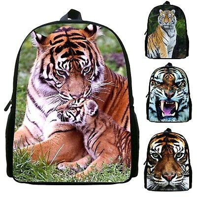 Tigre Zaino Animali 3D Scuola Tempo libero Tiger Backpack School Bag ZANIM01 5 P